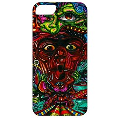 Abstract Psychedelic Face Nightmare Eyes Font Horror Fantasy Artwork Apple Iphone 5 Classic Hardshell Case