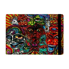 Abstract Psychedelic Face Nightmare Eyes Font Horror Fantasy Artwork Apple Ipad Mini Flip Case