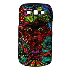 Abstract Psychedelic Face Nightmare Eyes Font Horror Fantasy Artwork Samsung Galaxy S Iii Classic Hardshell Case (pc+silicone)