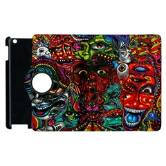 Abstract Psychedelic Face Nightmare Eyes Font Horror Fantasy Artwork Apple Ipad 2 Flip 360 Case