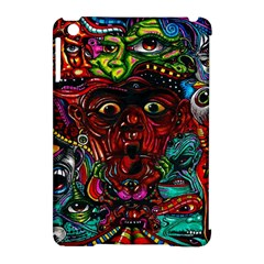 Abstract Psychedelic Face Nightmare Eyes Font Horror Fantasy Artwork Apple iPad Mini Hardshell Case (Compatible with Smart Cover)
