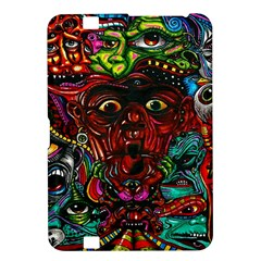 Abstract Psychedelic Face Nightmare Eyes Font Horror Fantasy Artwork Kindle Fire Hd 8 9