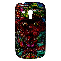 Abstract Psychedelic Face Nightmare Eyes Font Horror Fantasy Artwork Galaxy S3 Mini