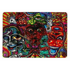 Abstract Psychedelic Face Nightmare Eyes Font Horror Fantasy Artwork Samsung Galaxy Tab 10 1  P7500 Flip Case