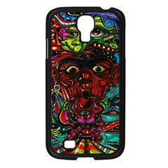 Abstract Psychedelic Face Nightmare Eyes Font Horror Fantasy Artwork Samsung Galaxy S4 I9500/ I9505 Case (black)