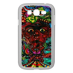 Abstract Psychedelic Face Nightmare Eyes Font Horror Fantasy Artwork Samsung Galaxy Grand Duos I9082 Case (white)