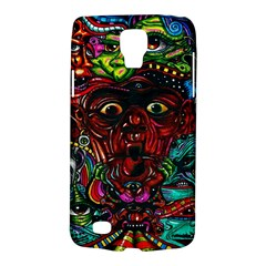 Abstract Psychedelic Face Nightmare Eyes Font Horror Fantasy Artwork Galaxy S4 Active