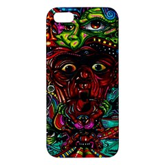 Abstract Psychedelic Face Nightmare Eyes Font Horror Fantasy Artwork Iphone 5s/ Se Premium Hardshell Case