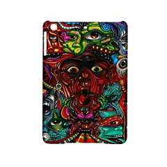 Abstract Psychedelic Face Nightmare Eyes Font Horror Fantasy Artwork Ipad Mini 2 Hardshell Cases
