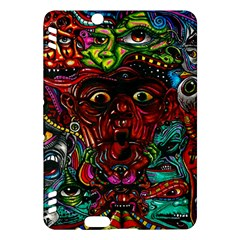 Abstract Psychedelic Face Nightmare Eyes Font Horror Fantasy Artwork Kindle Fire Hdx Hardshell Case