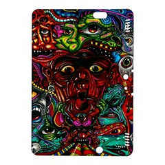 Abstract Psychedelic Face Nightmare Eyes Font Horror Fantasy Artwork Kindle Fire HDX 8.9  Hardshell Case