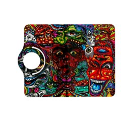 Abstract Psychedelic Face Nightmare Eyes Font Horror Fantasy Artwork Kindle Fire Hd (2013) Flip 360 Case
