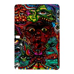 Abstract Psychedelic Face Nightmare Eyes Font Horror Fantasy Artwork Samsung Galaxy Tab Pro 12 2 Hardshell Case