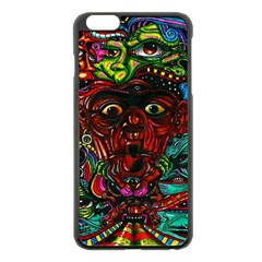 Abstract Psychedelic Face Nightmare Eyes Font Horror Fantasy Artwork Apple Iphone 6 Plus/6s Plus Black Enamel Case