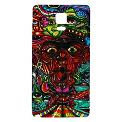 Abstract Psychedelic Face Nightmare Eyes Font Horror Fantasy Artwork Galaxy Note 4 Back Case