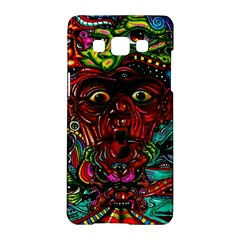 Abstract Psychedelic Face Nightmare Eyes Font Horror Fantasy Artwork Samsung Galaxy A5 Hardshell Case