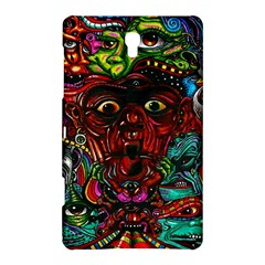 Abstract Psychedelic Face Nightmare Eyes Font Horror Fantasy Artwork Samsung Galaxy Tab S (8 4 ) Hardshell Case