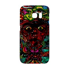 Abstract Psychedelic Face Nightmare Eyes Font Horror Fantasy Artwork Galaxy S6 Edge