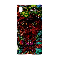 Abstract Psychedelic Face Nightmare Eyes Font Horror Fantasy Artwork Sony Xperia Z3+