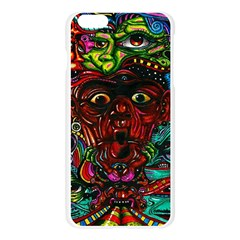 Abstract Psychedelic Face Nightmare Eyes Font Horror Fantasy Artwork Apple Seamless iPhone 6 Plus/6S Plus Case (Transparent)