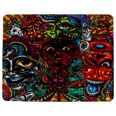 Abstract Psychedelic Face Nightmare Eyes Font Horror Fantasy Artwork Jigsaw Puzzle Photo Stand (rectangular)