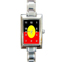 Flag Of Australian Aborigines Rectangle Italian Charm Watch