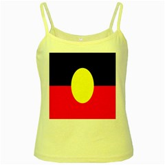 Flag Of Australian Aborigines Yellow Spaghetti Tank