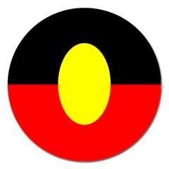 Flag Of Australian Aborigines Magnet 5  (round)
