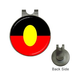 Flag Of Australian Aborigines Hat Clips with Golf Markers
