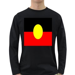 Flag Of Australian Aborigines Long Sleeve Dark T-Shirts