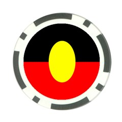 Flag Of Australian Aborigines Poker Chip Card Guard