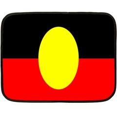 Flag Of Australian Aborigines Double Sided Fleece Blanket (Mini)