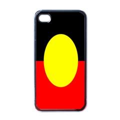 Flag Of Australian Aborigines Apple iPhone 4 Case (Black)