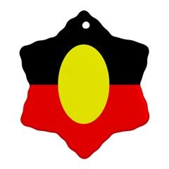 Flag Of Australian Aborigines Snowflake Ornament (two Sides)