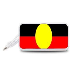 Flag Of Australian Aborigines Portable Speaker (White)