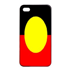 Flag Of Australian Aborigines Apple iPhone 4/4s Seamless Case (Black)