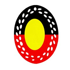 Flag Of Australian Aborigines Oval Filigree Ornament (two Sides)