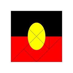 Flag Of Australian Aborigines Acrylic Tangram Puzzle (4  X 4 )