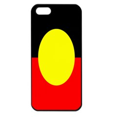 Flag Of Australian Aborigines Apple Iphone 5 Seamless Case (black)