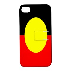 Flag Of Australian Aborigines Apple iPhone 4/4S Hardshell Case with Stand