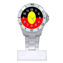 Flag Of Australian Aborigines Plastic Nurses Watch