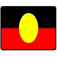 Flag Of Australian Aborigines Double Sided Fleece Blanket (medium)