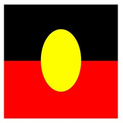 Flag Of Australian Aborigines Large Satin Scarf (Square)