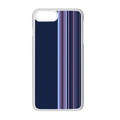Lines Apple Iphone 7 Plus White Seamless Case