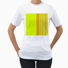 Lines Women s T Shirt (white)