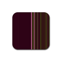 Lines Rubber Square Coaster (4 Pack)
