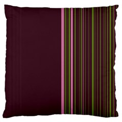 Lines Large Cushion Case (one Side)