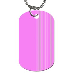 Lines Dog Tag (one Side)