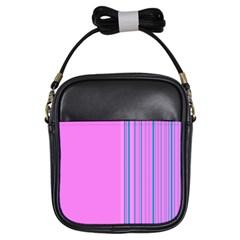 Lines Girls Sling Bags