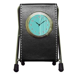 Lines Pen Holder Desk Clocks